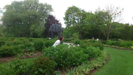 Sonya in the Oshawa Valley Botanical Gardens