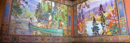 Billiard Room. Image courtesy Parkwood Estate, copyright the Challener estate.