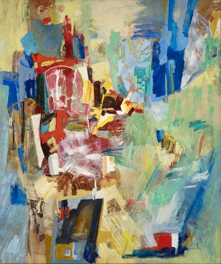 """Alexandra Luke (Canadian, 1901 - 1967) Symphony 1957 oil on canvas Gift of Mr. and Mrs. E. R. S. McLaughlin, 1972  This painting is very large – 246.7 x 208.3 cm or 97.126"""" x 82.007874"""""""