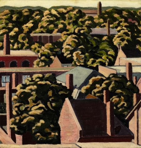Window Wednesday March 30, 2011   Isabel McLaughlin (Canadian, 1903-2002)  Above the Rooftops n.d.  oil on canvas  Gift of the estate of Isabel McLaughlin, 2003