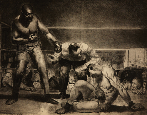 George Bellows, American (1882-1925), The White Hope (detail), 1921, Lithograph on paper, 48.5 x 60.8 cm, Collection of the Art Gallery of Hamilton; gift of Mr. and Mrs. J.A. McCuaig, 1965, Photo credit: Michael Lalich