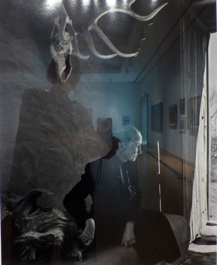 Photograph of Georgia O'Keefe in her studio