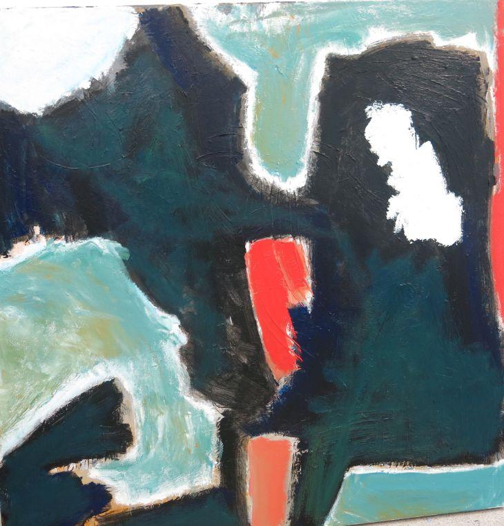 Judith Mason, Abstract O'Keefe, acrylic