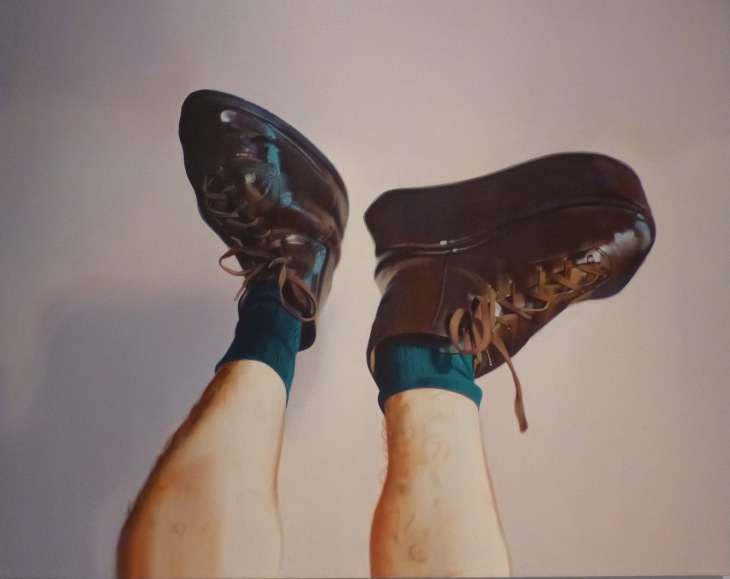 Kevin Wolff, Shoes, 1995, acrylic on canvas